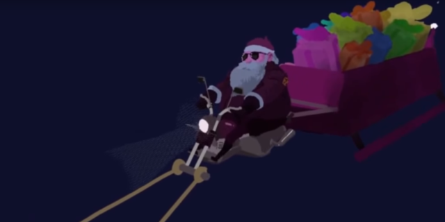 """VR """"Biker Santa"""""""
